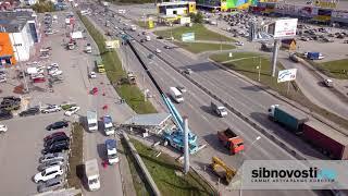 Демонтаж рекламы на Димитровском мосту
