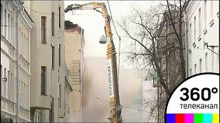 Строители начали снос дома в Пушкаревом переулке