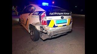 В Киеве на Троещине полицейский Prius попал в ДТП
