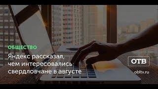Яндекс рассказал, чем интересовались свердловчане в августе