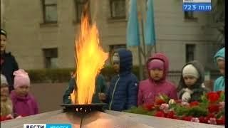 Ветераны пришли на митинг к Вечному огню