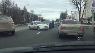Массовое ДТП в Туле: на проспекте Ленина пробка