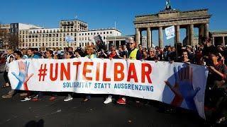 Массовый митинг в Берлине