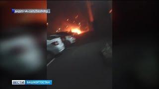 В Уфе сгорел легковой автомобиль