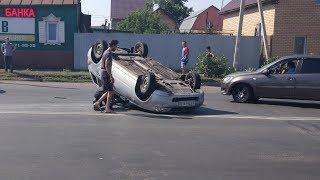 В Оренбурге на Шевченко перевернулся автомобиль. Оренбург ДТП. Дорожные Новости.