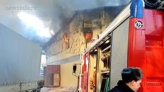 На улице Галкина в Туле горел склад стройматериалов