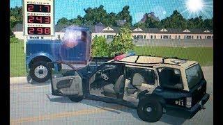 BeamNG.drive |симулятор ДТП| грузовик не справился с управлением.