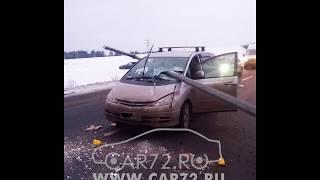 Ужасное ДТП: столб пробил лобовое стекло.