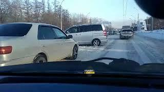 Новосибирск. ДТП на Станционной.