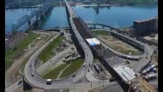 Строители соединили Николаевский мост и дорогу, которая будет выходить на улицу Волочаевская