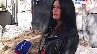 На Ленина, 78 обрушилась часть балкона(ГТРК Вятка)