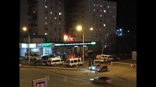 Из-за пожара в уфимской многоэтажке эвакуировано 70 человек