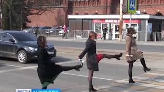 В Калининграде прошла акция «Интеллигентный пешеход»