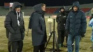 Замер температуры перед матчем «Енисей» – «Ахмат»