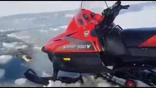 Рыбаки спасли один из снегоходов в Долинском районе