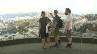 Иностранные болельщики знакомятся с экспозицией музея-панорамы «Сталинградская битва»