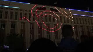 Лазерное шоу на День города в Оренбурге 31 августа 2018 года