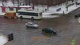 ДТП (авария г. Волжский) пр. Ленина ул. Космонавтов 24-03-2018 16-49