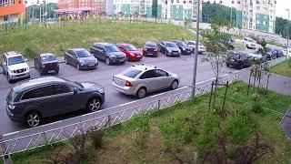Массовое ДТП на парковке в микрорайоне Цветы