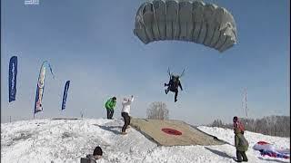 """Небо """"затмили"""" лыжники с парашютами. Челябинск принимает чемпионат России по пара-ски"""