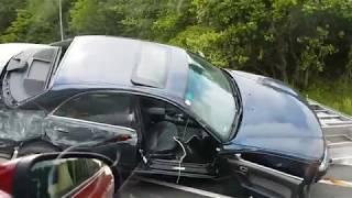 ДТП с прицепом на автобане .Австрия