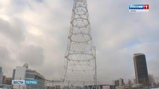 На новой пермской телебашне начались работы по установке шпиля