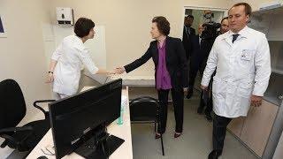 Наталья Комарова оценила новые отделения поликлиники в Сургуте
