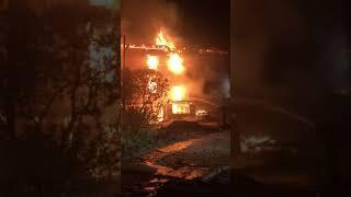 В Вольске сгорел дом на 20 квартир