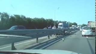 На Новочеркасском шоссе произошла авария, видео очевидцев