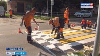 Александр Евстифеев проверил готовность пешеходных переходов около школ к учебному году