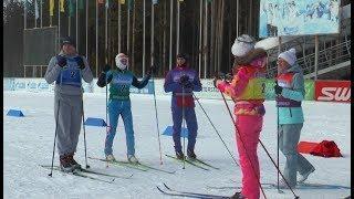 В Югорске устроили шефский заезд на лыжах