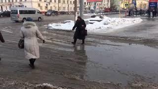прорыв водопровода произошёл в Барнауле