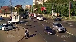 ДТП на ул. Восточно-Кругликовская и ул. Школьная 13.08.2018