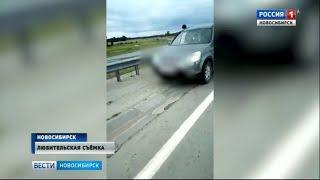 Водитель внедорожника посадил ребенка за руль на скоростной трассе