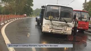ДТП с участием маршрутки в Ярославле: есть пострадавшие