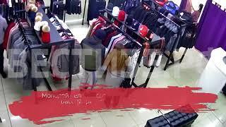 Воры попались на видео: молодая пара крадет вещи из магазина