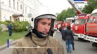 В Кострому из Иванова приехал агитпоезд с будущими спасателями