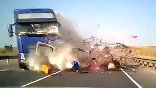 Момент смертельного ДТП на трассе Уфа-Самара