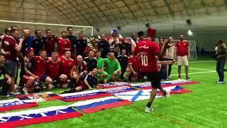 Катюша в исполнении болельщиков России после матча с болелами Египта