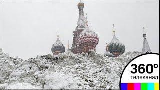 На Москву обрушился сильнейший снегопад за последние 68 лет