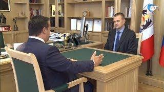 Новый руководитель областного Управления Федеральной Налоговой службы встретился с Андреем Никитиным
