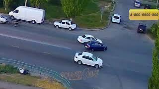 ДТП (авария г. Волжский) ул. Карбышева ул. Оломоуцкая 26-08-2018 18-44