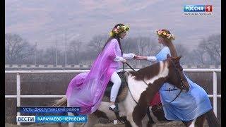 Воспитанники конно-спортивной школы провели выступление, посвященное Дню защитника Отечества