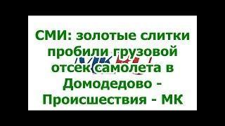 СМИ: золотые слитки пробили грузовой отсек самолета в Домодедово - Происшествия - МК.✔
