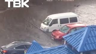 Затопило Красноярск 3 июля