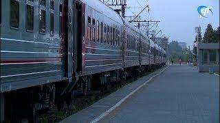 В Москву прибыл обновленный состав поезда из Великого Новгорода