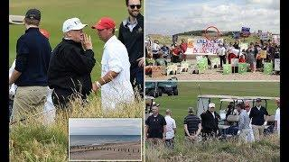 President Trump wastes no time getting on green at his Scottish estate - 247 news
