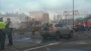 Жуткое ДТП на КАД в Санкт Петербурге