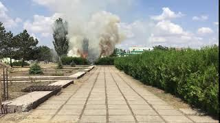 Пожар в центре Тирасполя