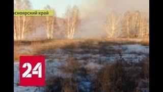 В Красноярском крае запылала гигантская свалка опилок - Россия 24